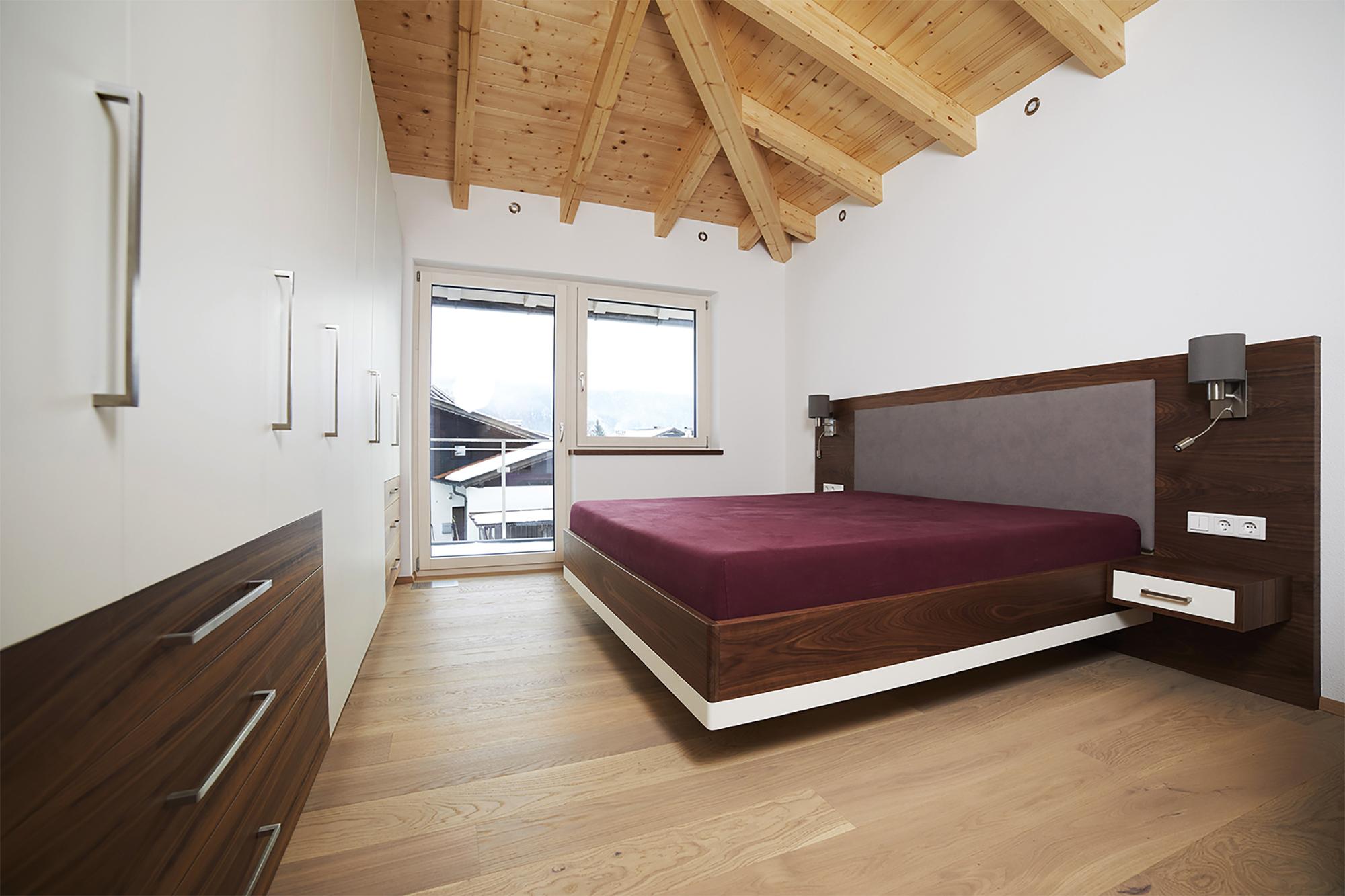 Tischlerei Stöckl Ebbs Kompletteinrichtung Einfamilienhaus Schränke Schlafzimmer