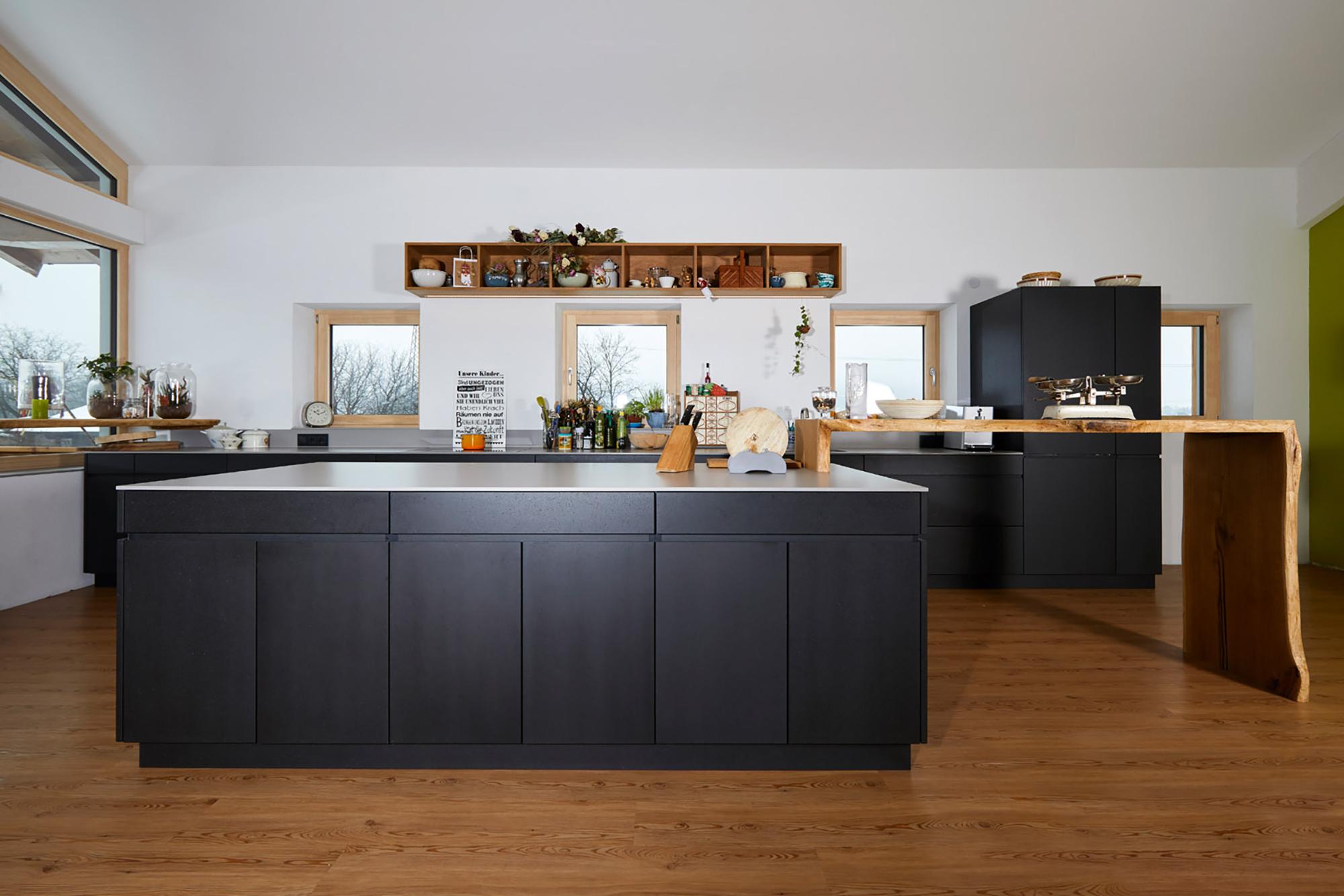 Tischlerei Stöckl Ebbs Wohnküche Echtbeton Küchenausstattung Küche Inneneinrichtung Möbel