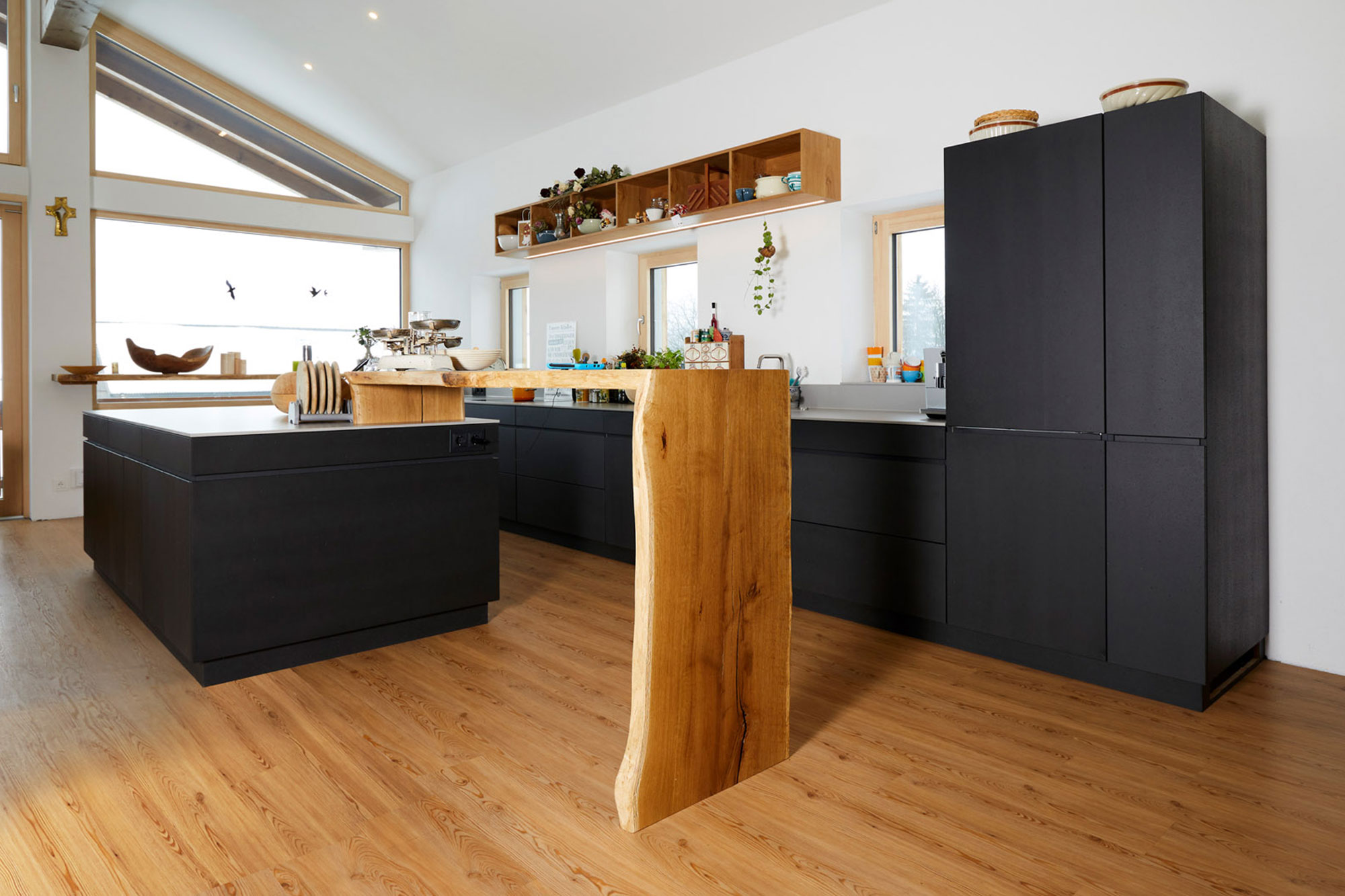 Tischlerei Stöckl Ebbs Wohnküche Echtbeton Küchenausstattung Küche Inneneinrichtung Möbel Quooker