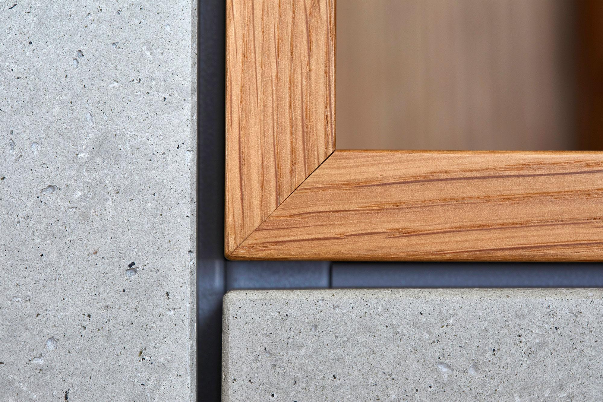 Tischlerei Stöckl Ebbs Wohnküche Echtbeton Inneneinrichtung Möbel Detailaufnahme Beton und Holz
